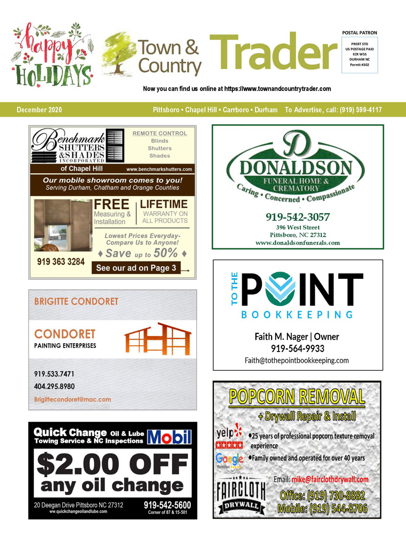 local affordable print advertising serving Pittsboro, Carrboro, Chapel Hill